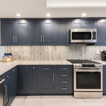 Bold and Navy Blue Kitchen
