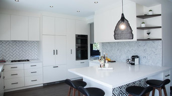 Bold Monochromatic Entertainers Kitchen & Dining