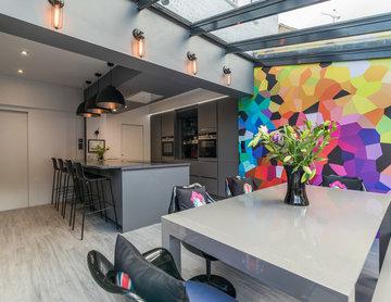 Bold Open Plan Kitchen Installation