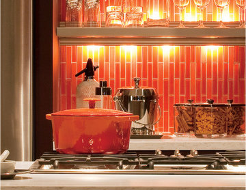 Bold Orange Backsplash