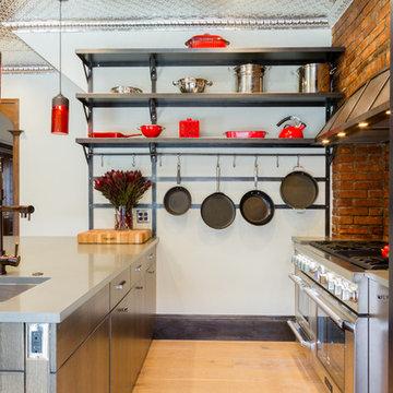 Bold Steel Kitchen