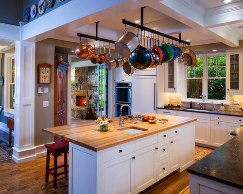 kitchen island hanging pot racks hanging pot rack houzz 8181