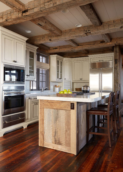 Rustic Kitchen by Wellborn + Wright