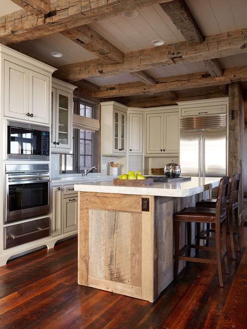 Reclaimed Wood Kitchen Islands Houzz