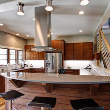 Contemporary Kitchen by Living Stone Construction, Inc.