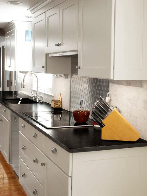 Slim Kitchen Design Ideas Renovations Photos with