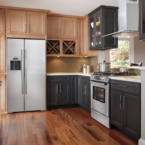 multi color kitchen multi colored kitchen cabinets houzz 1014