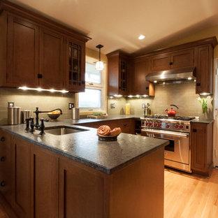 Elegant kitchen photo in DC Metro with granite countertops