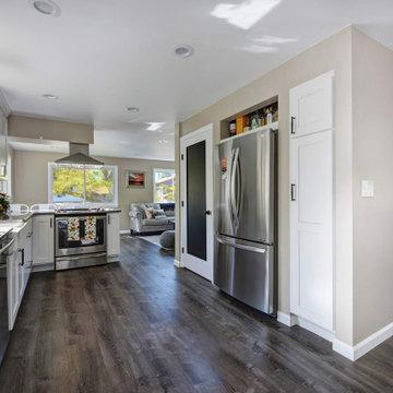Boulder, Heatherwood Whole Home Renovation -- Kitchen / Living