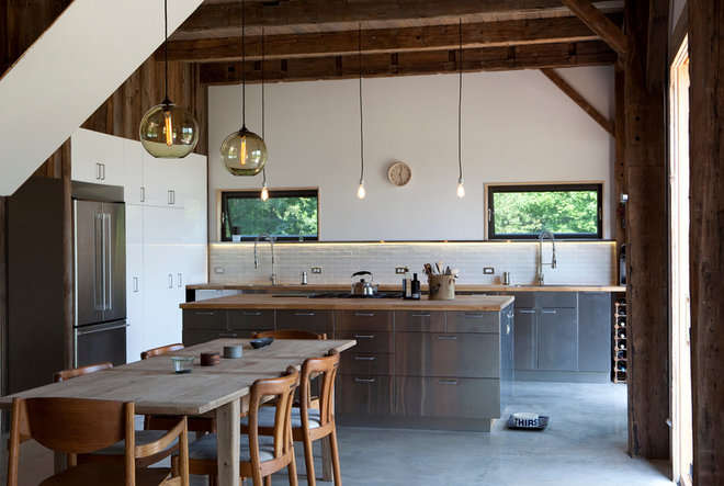 Rustic Kitchen by kimberly peck architect