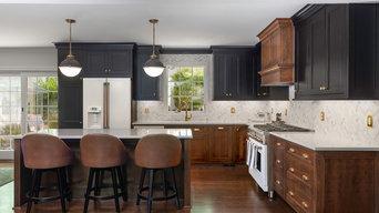 Brass, Black & Cherry Kitchen