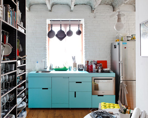 Turquoise Kitchen Cabinets | Houzz