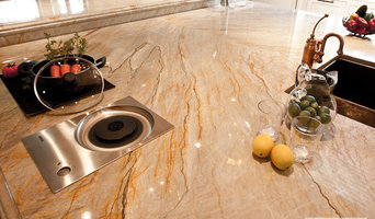 Brazilian Dream quartzite countertop + island