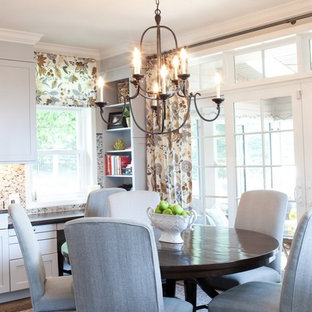 Transitional eat-in kitchen ideas - Transitional eat-in kitchen photo in Baltimore