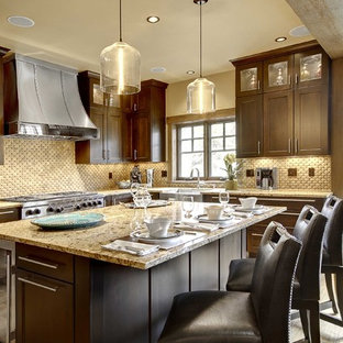 Contemporary kitchen inspiration - Trendy kitchen photo in Denver with stainless steel appliances