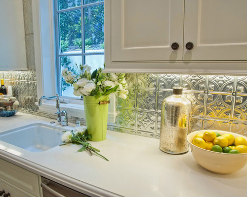 faux tin kitchen backsplash home design ideas pictures remodel and