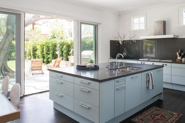 Transitional Kitchen by Breeze Giannasio Interiors