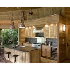 Tropical Kitchen by Main Line Kitchen Design
