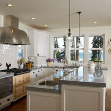 Eclectic Kitchen by Dan Nelson, Designs Northwest Architects