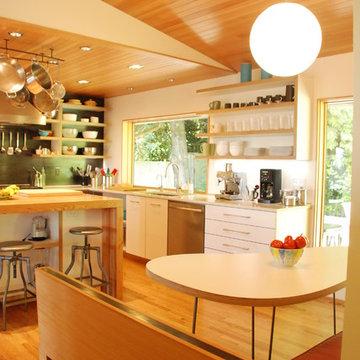 Brian & Caron's Mid-Century Kitchen, Dining & Living Room