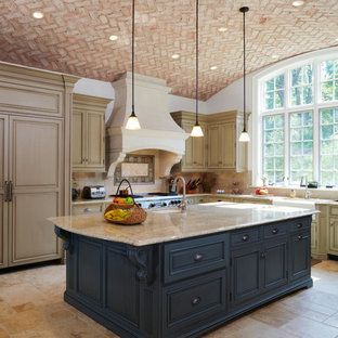 Brick Arched Ceiling in Kitchen