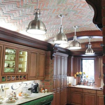 Brick Arched Ceiling kitchen