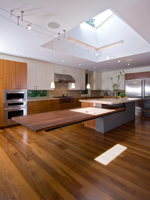 Kitchen Island Attached Table | Houzz