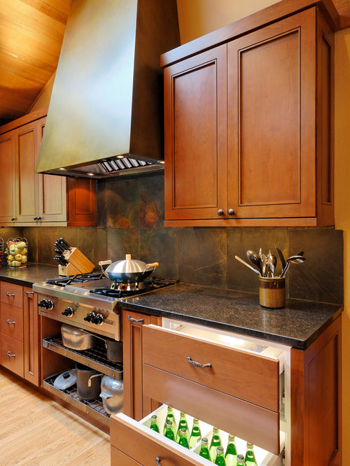 Wonderful Inspiration For A Timeless Kitchen Remodel In Seattle With Recessed Panel  Cabinets, Medium Tone