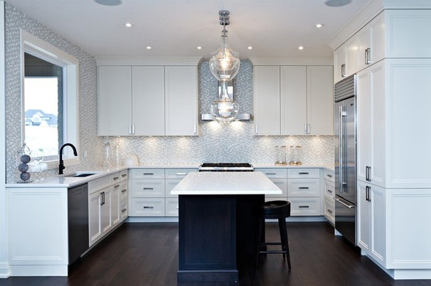 Transitional Kitchen by Woody's Custom Cabinetry