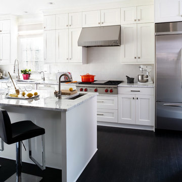 Bright, Airy Transitional Kitchen
