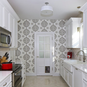 Bright and Cheery Galley Kitchen