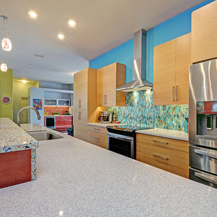 Bright and Colorful Kitchen and Living Space