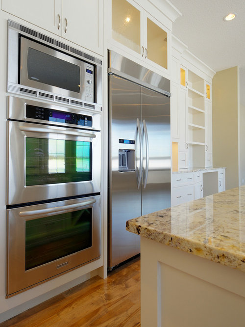 Double wall oven design ideas remodel pictures houzz for Double oven and microwave cabinet