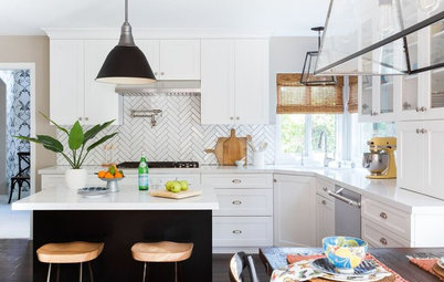 Before and After: Kitchen Gets a Bold New Look in Black and White