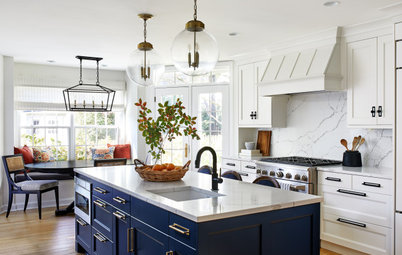Kitchen of the Week: Bright Space With a Bold Blue Island