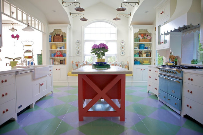 Eclectic Kitchen by Alison Kandler Interior Design