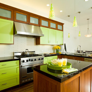 Lime Green Kitchen | Houzz
