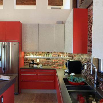 Bright Red Contemporary Denver