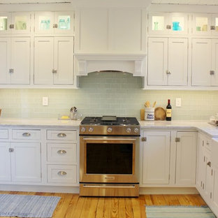 Bright White Inset Kitchen With Shiplap Ceiling Milan, IL