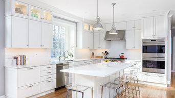 Bright White Transitional Kitchen - Sudbury, MA