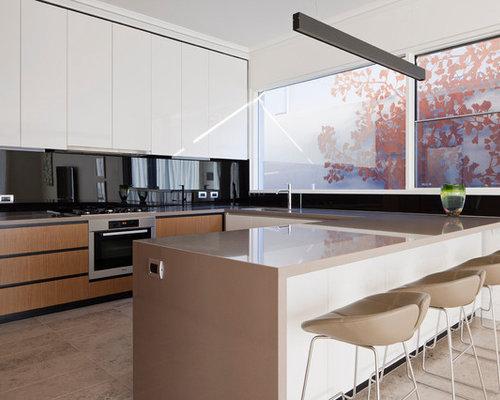 Black glass backsplash ideas, pictures, remodel and decor