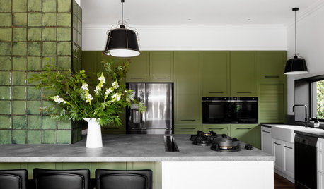 Before & After: From Classic Clutter to Green Dream Kitchen