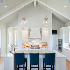 Transitional Kitchen by Artistic Tile