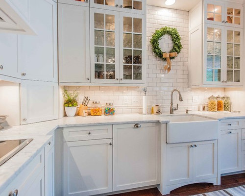 Glass Door White Cabinets Design Ideas & Remodel Pictures | Houzz