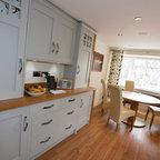 Contemporary Shaker Kitchen Transitional Kitchen