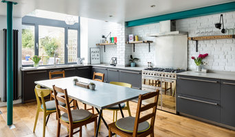 Brockley, SE4:Modern industrial kitchen with rustic elements