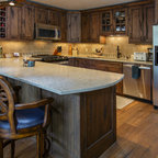 Hedwig Rustic Kitchen Houston By Thompson Custom Homes