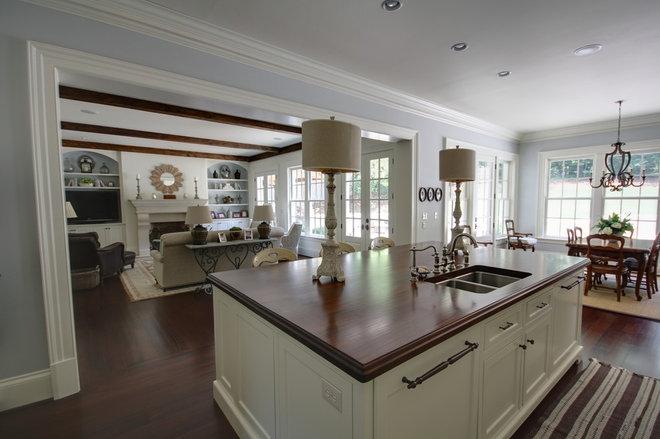 Transitional Kitchen by Castro Design Studio