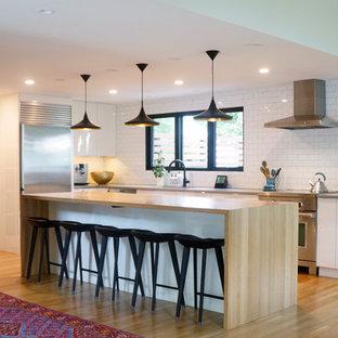 Cucina moderna con top in legno : Foto e Idee per Ristrutturare e ...