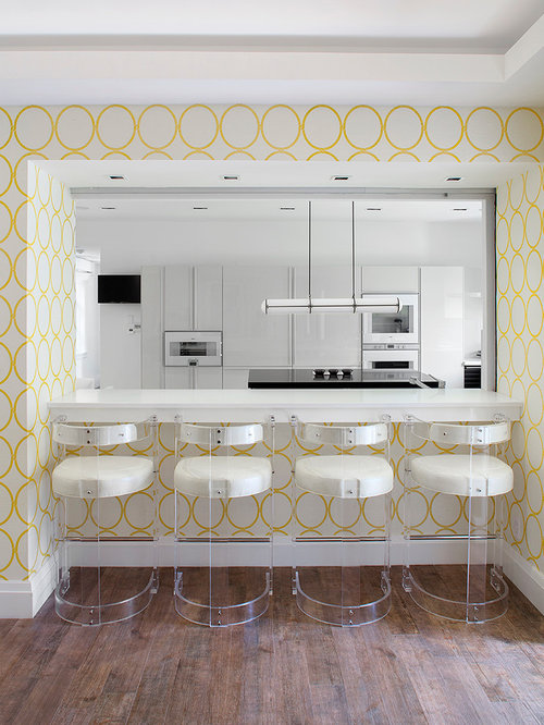 Yellow Wallpaper Home Design Ideas Pictures Remodel And